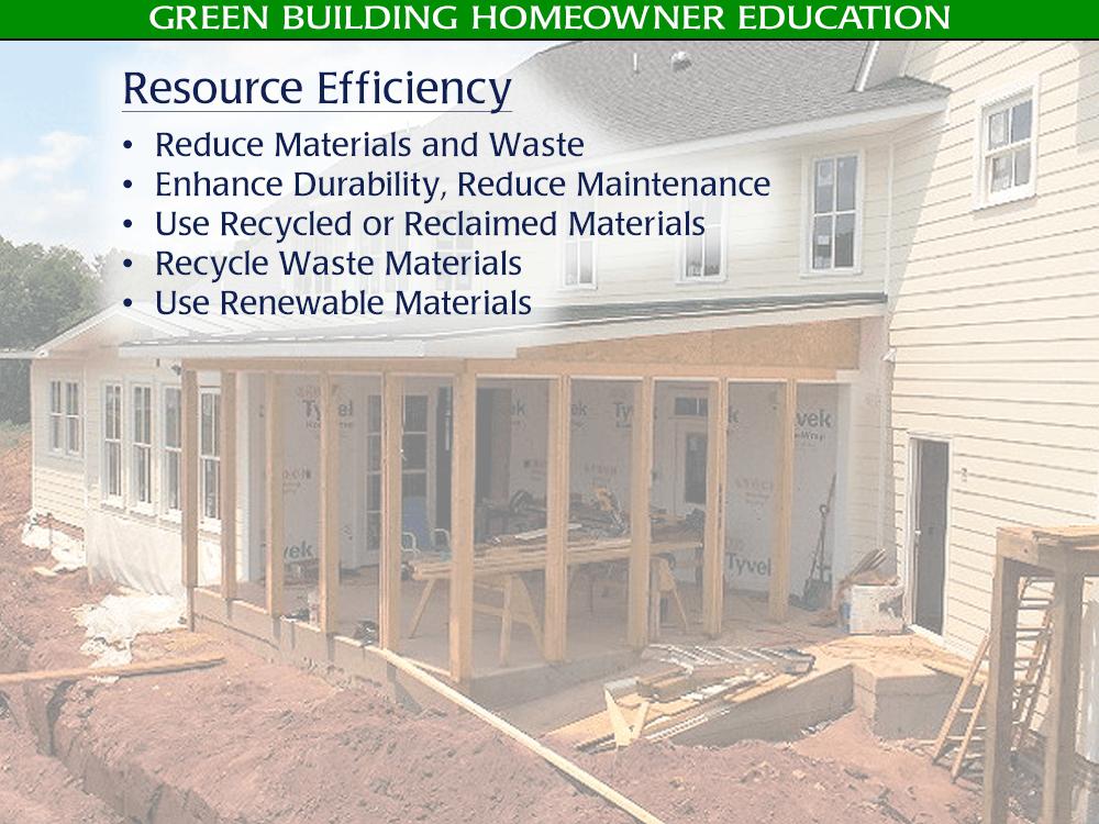 Green / Eco-Friendly Building Resource Efficiency