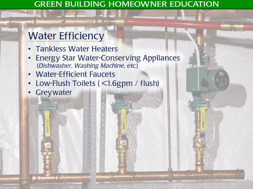 Green Building Water Efficiency - Golden Rule Builders