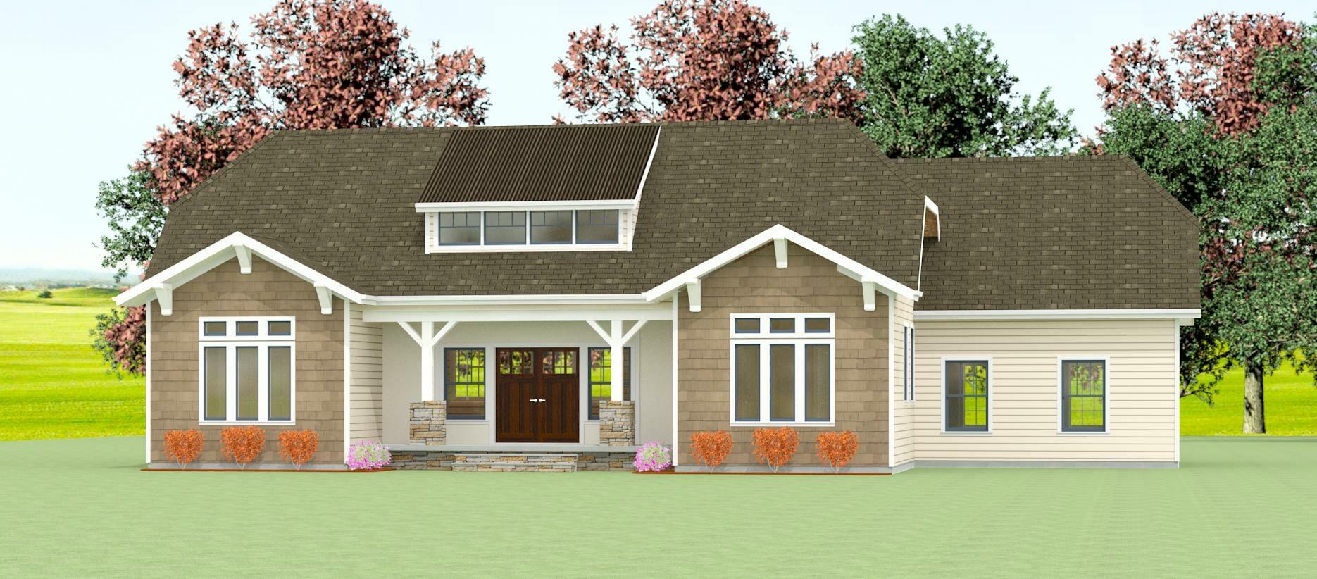 GRB-Davidson-craftsman-elevation-rendering