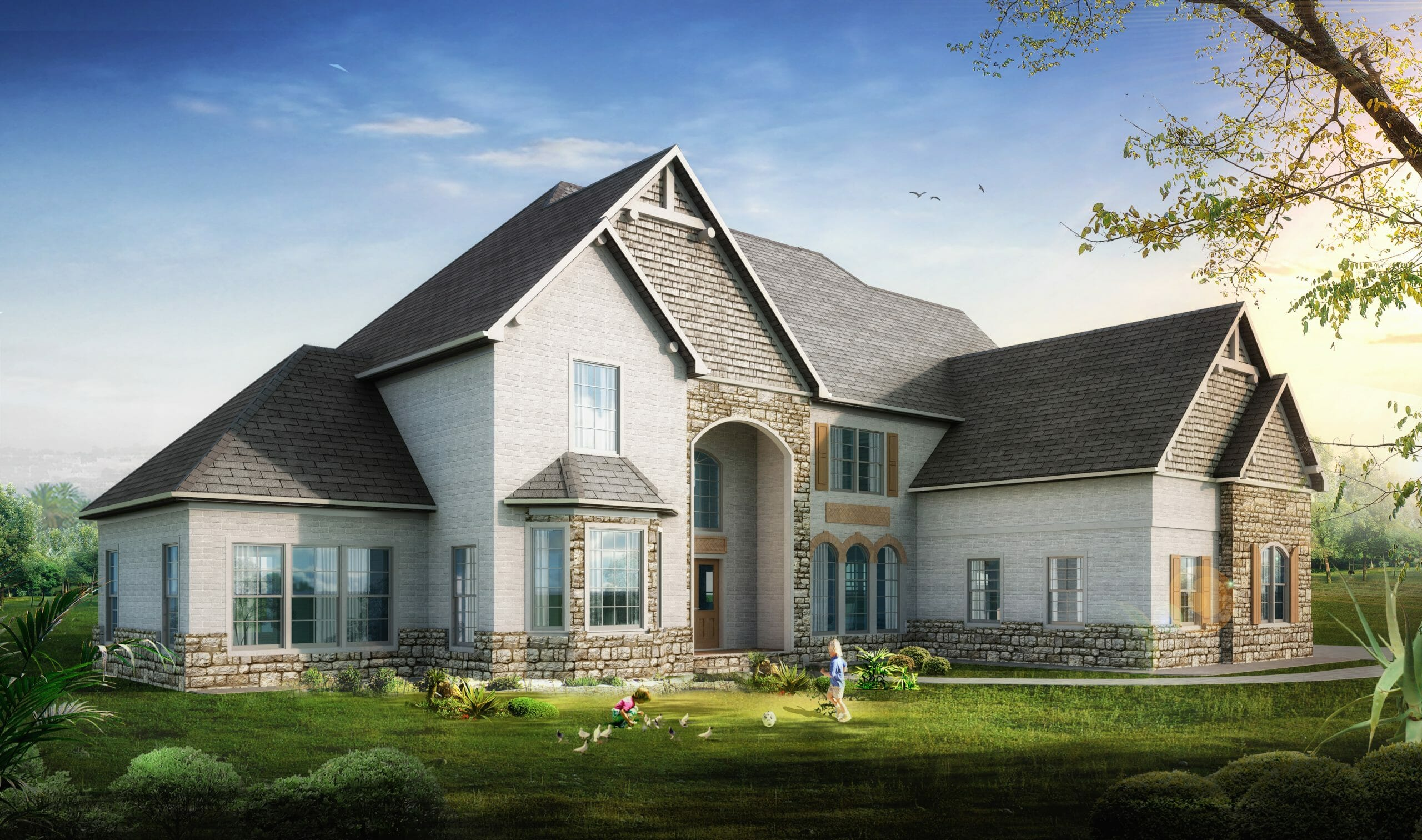 Golden Rule Lifestyles Custom Homes - New Home Model Yosemite Front Elevation